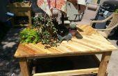 Palet madera Patio mesa