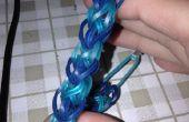 La pulsera diamante patrón de arco iris del telar