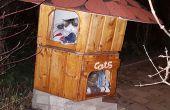 Casa de gato de piso doble