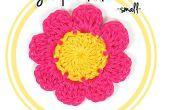 Cómo Crochet una flor de ocho pétalos (#1 - pequeño)