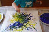 Cómo hacer espaguetis para pintar como Jackson Pollock