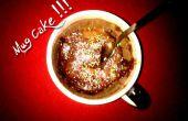 Taza pastel (cocido en el microondas)