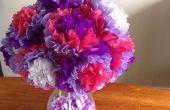 Flores fáciles de papel de seda