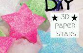 Estrellas de papel 3D DIY