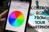 Teléfono inteligente controlado por luz del humor RGB
