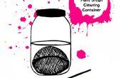 Crear su propio cepillo limpieza contenedor de pintura