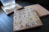 Posavasos de azulejos Scrabble