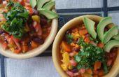 Coliflor y ñame Chile (vegana)