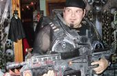 Trajes de Halloween cartón y engranajes del estilo de la guerra de armas