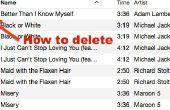 Cómo borrar todas las canciones con exclamación en iTunes de Mac 12