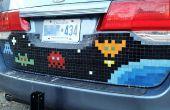 Mosaico de azulejo Pixel Art Car