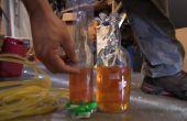 Botellas de vidrio para hacer un nivel de agua del taladro