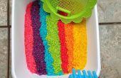 BRICOLAJE del arco iris jugar arroz