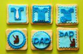 Día del padre Fondant Cupcake Toppers