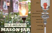 Poste-montado de Mason Jar jardín