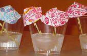 Manualidades de verano para niños: Dum tenia bebida paraguas