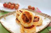 Molinetes de hojaldre hojaldre de tomate