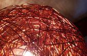 Bola de alambre de cobre lámpara