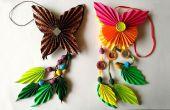DIY: Cómo hacer Origami papel mariposa Dangler | El arte del plegado de papel
