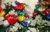 Cómo hacer flores de colores con cintas Curling