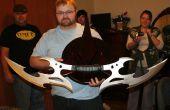 Pantalla de pared de espada Klingon Bat'leth