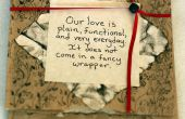 Tarjeta de San Valentín de bolsa papel