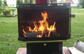 Chimenea al aire libre de una chimenea de gas recuperado