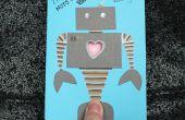 Tarjeta de San Valentín del latido del corazón de robot