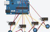 Principiante 123D circuito Control Arduino Servos