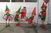 Pantalla de yarda de elfos de Santa