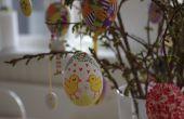 Pintado de cáscaras de huevo de Pascua