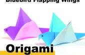 Cómo Origami una pajarita azul