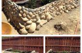 Jardinera hecha de Re-used rocas gigantes