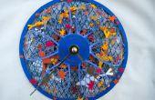 Reloj de papercraft de estanque Koi