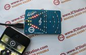 ICStation luces de LED de indicador de nivel de sonido de color LED luces van con la música