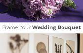 El ramo de la boda del marco