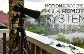 Movimiento accionada sistema remoto DSLR