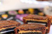 Oreo y mantequilla de cacahuete Brownie tartas