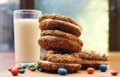 M & M avena crema pastel galletas bocadillos