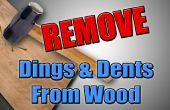 Hack para madera - quitar abolladuras y golpes de madera