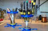 Herramientas organizador - hecho con piezas 3d y embudos de OJ