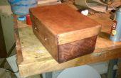 De coser y herramientas de una caja de herramientas de cuero packable