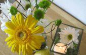 Pieza central de boda flor de fruta
