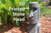 3D impreso cabeza de piedra