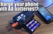 ¿Carga tu teléfono con pilas AA?