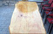 Arce de borde losa tabla al aire libre en vivo