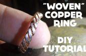 """""""Tejido"""" anillo - Tutorial DIY de cobre"""