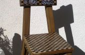 Silla de madera reciclada