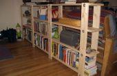 Planes de estantería barato, fácil, bajo-residuos