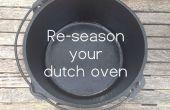 Volver a sazonar el horno holandés